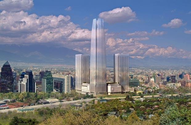 Projeção da Gran Torre Costanera (Foto: BBC)