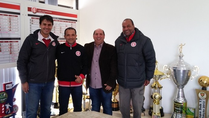 Iarley Jorge Andrade Vilmar Terra de Freitas Ubirajara Rodrigues Inter Internacional (Foto: Leonardo Fister/Inter)