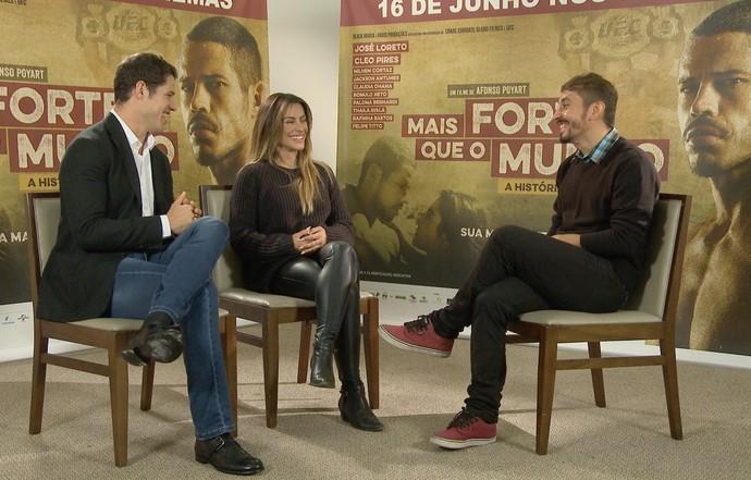 José Loreto e Cleo Pires protagonizam filme sobre vida de José Aldo (Foto: Rede Amazônica)