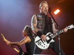 Metallica toca no Palco Mundo neste sábado, segundo dia do Rock in Rio (Foto: Luciano Oliveira/G1)
