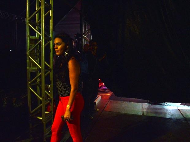 Letícia Lima em show no Recife (Foto: Felipe Souto Maior/ Ag. News)