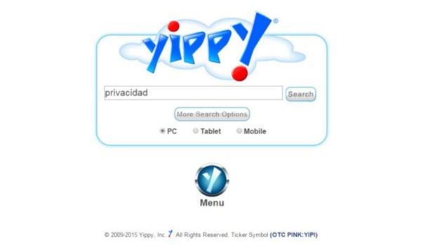 O Yippy se apresenta como um site de busca mais 'familiar' que não deixa rastros. (Foto: BBC)