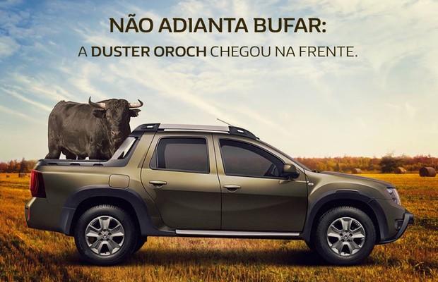 Duster Oroch foi usada para provocar Fiat Toro no Facebook (Foto: Divulgação)