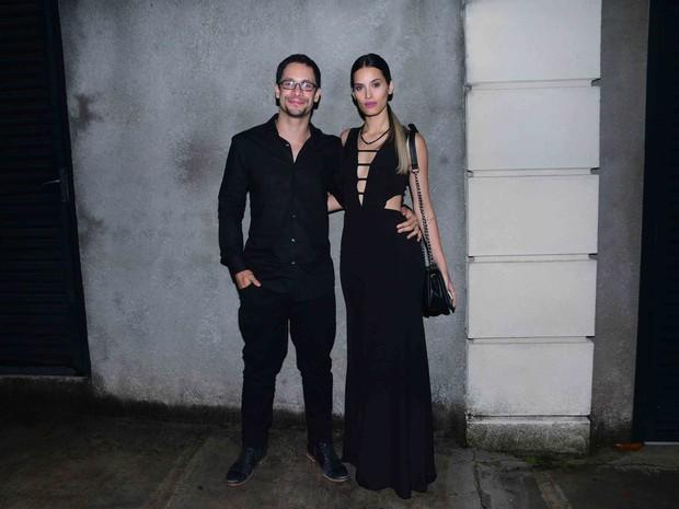 Rainer Cadete e a namorada, Taianne Raveli, em festa em São Paulo (Foto: Leo Franco/ Ag. News)