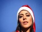 Carol Castro, Sandy, Aline Riscado e mais famosos desejam feliz Natal
