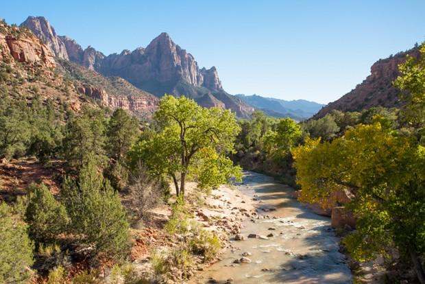 Umas das belas paisagens do Parque Nacional Zion (Foto: Fernando Zequinão)