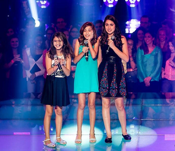 Momentos de tensão com Clara, Luna e Vicky (Foto: Isabella Pinheiro/Gshow)
