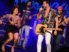 Mari Antunes desce até o chão em show com Alexandre Peixe na Bahia
