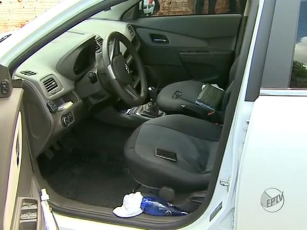 Taxista foi baleado durante assalto em Ribeirão Preto, SP (Foto: Reprodução/EPTV)