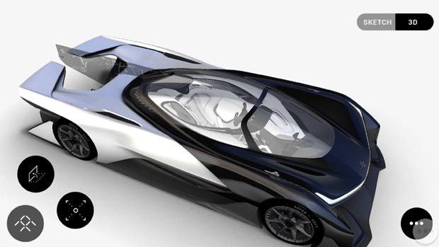 Faraday Future lança app do conceito FFZERO1 (Foto: Reprodução)