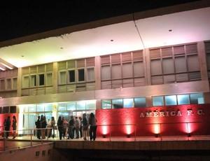 Sede social do América-RN (Foto: Elpídio Júnior)