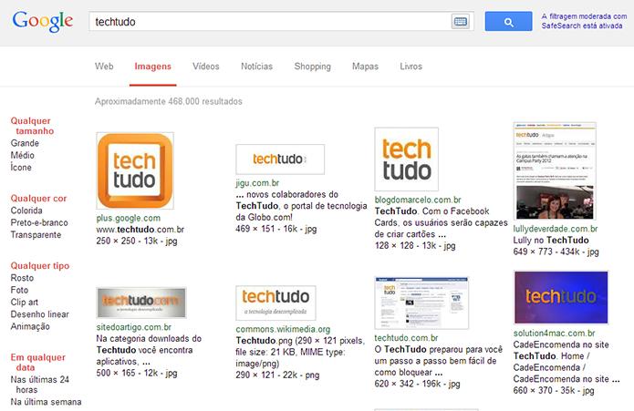 Modo básico do Google Imagens não usa Javascript (Foto: Reprodução/Paulo Alves)