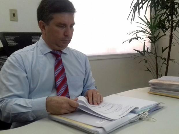 O juiz trabalhista e gestor regional do programa Nacional de Prevenção de Acidentes de Trabalho, Marco Antonio de Freitas (Foto: Diogo Nolasco/TV Morena)