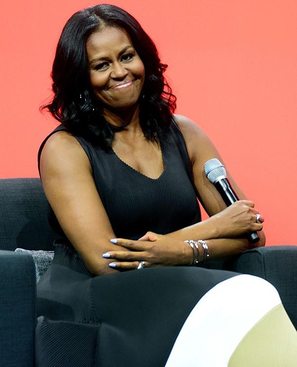 Michelle Obama em seu primeiro discurso depois de deixar a Casa Branca (Foto: Getty Images)