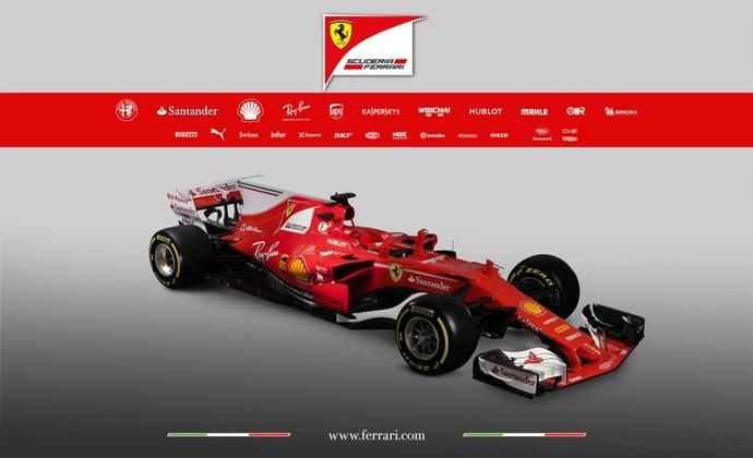 Ferrari SF70H, o carro do time italiano para 2017 (Foto: Divulgação)