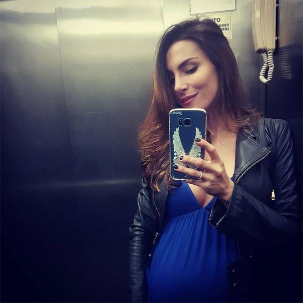 Mel Fronckowiak no dia 3 de maio, antes de dar à luz (Foto: Reprodução/Instagram)