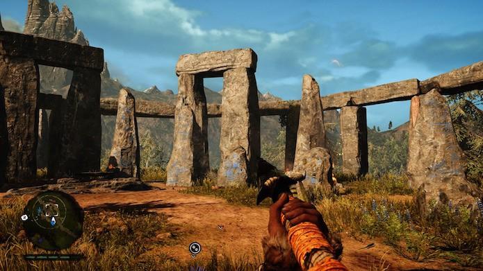 Far Cry Primal: Stonehenge está presente no jogo (Foto: Reprodução/Victor Teixeira)