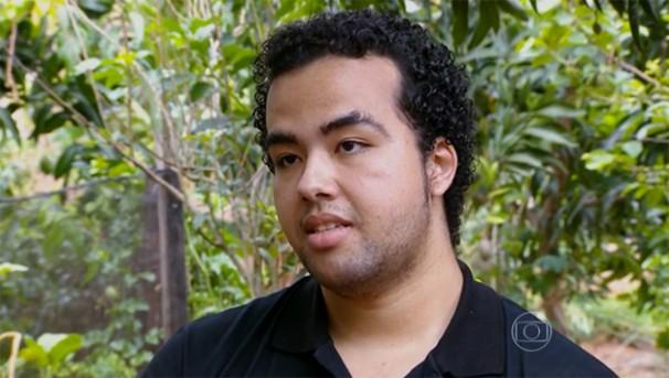 Luiz Fernando Rocha, de Ouro Verde, é o personagem do quadro 'Afina Rocha', do Bem Estar (Foto: reprodução TV Globo)