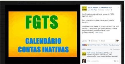 Página falsa no Facebook divulga calendário antes do divulgado pela Caixa (Foto: Reprodução)