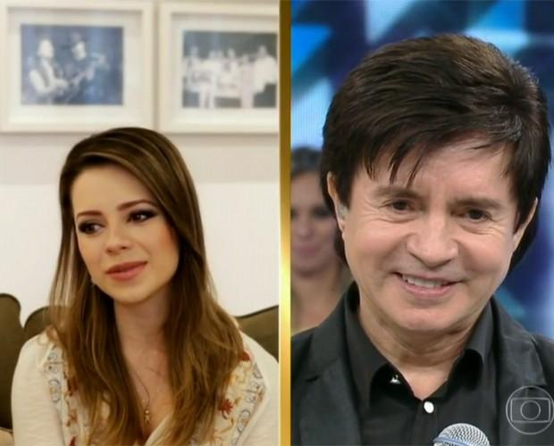 Sandy revela que Xororó é um avô incrível (Foto: Domingão do Faustão/TV Globo)