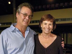Sandra Moreyra e Paulinho Jobim, em dezembro de 2009 (Foto: Thiago Prado Neris/TV Globo/Arquivo)