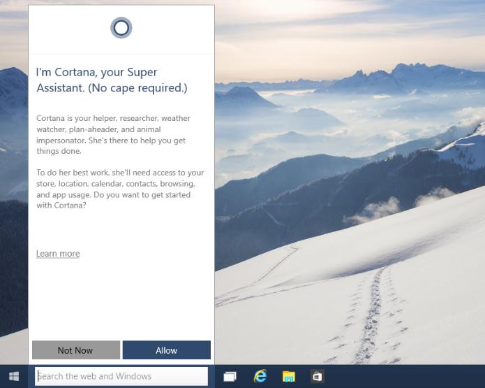Ative a Cortana no Windows 10 (Foto: Reprodução/Helito Bijora)