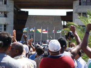 Greve de PM na Bahia (Foto: Egi Santana/G1)
