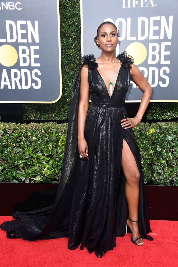 BEVERLY HILLS, CA - JANUARY 07:  Actor Issa Rae attends The 75th Annual Golden Globe Awards at The Beverly Hilton Hotel on January 7, 2018 in Beverly Hills, California.  (Photo by Frazer Harrison/Getty Images) (Foto: Getty Images)