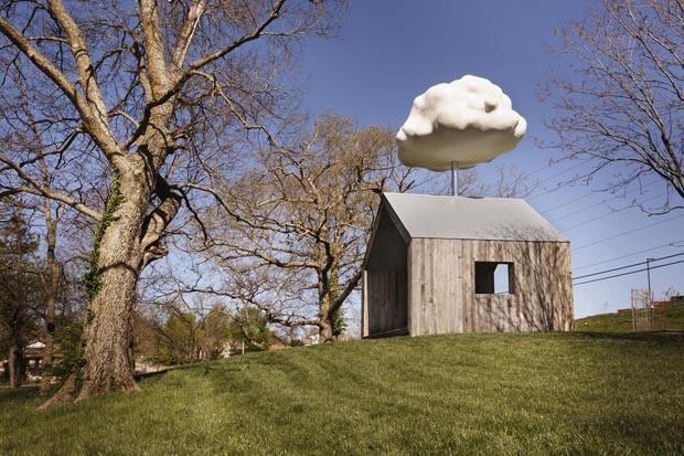 Casa nuvem capta água da chuva de um jeito divertido (Foto: Divulgação)