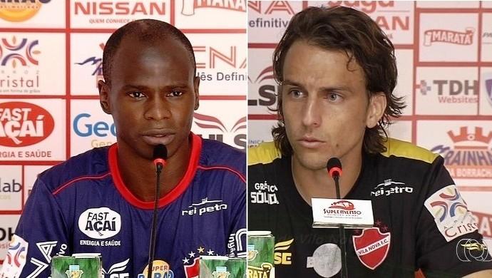 Marinho Donizete e Zotti, jogadores do Vila Nova (Foto: GloboEsporte.com)