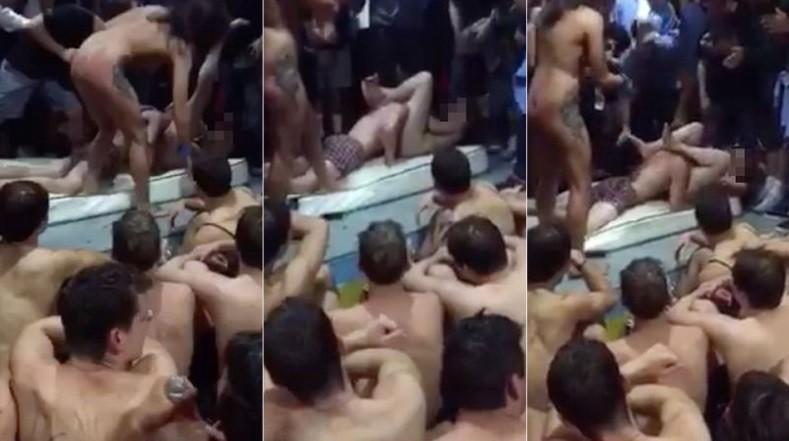 Imagem de sexo oral no ritual de iniciação