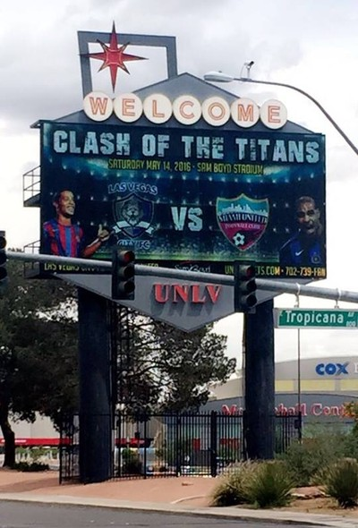 Cartaz Las Vegas City x Miami United (Foto: Reprodução)