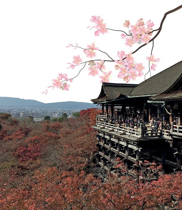 """Uau!"" define essa foto do templo zen-budista Kinkaku-ji (Foto: Divulgação e Thinkstock)"