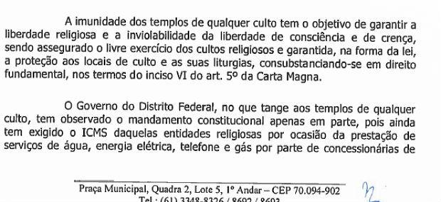 Projeto da distrital Liliane Roriz (PRTB) prevê isenção de ICMS em contas de consumo de igrejas do DF  (Foto: CLDF/Reprodução)
