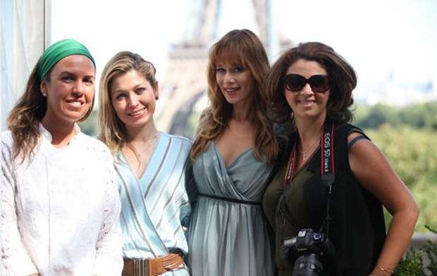 Chef Morena Leite, Marina Giuberti, Mariana Ximenes e a fotógrafa Fabiana Maruno (Foto: Ed Globo)