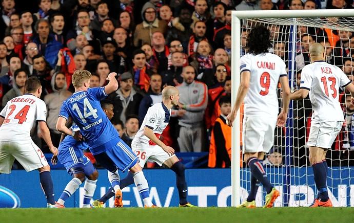 Schurlle Chelsea x PSG (Foto: AP)