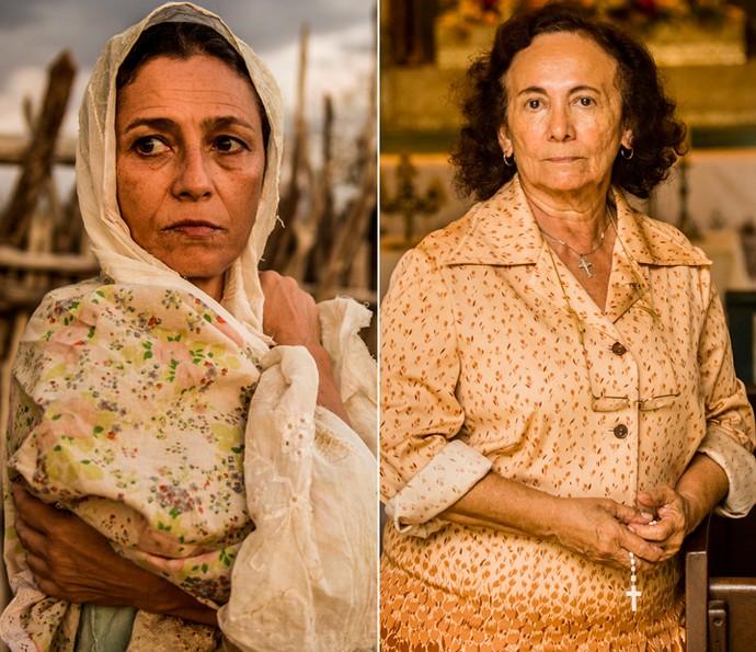 Cyria Coentro viveu Piedade na primeira fase e Zezita Matos assume o papel na segunda fase (Foto: Caiuá Franco/ Globo)