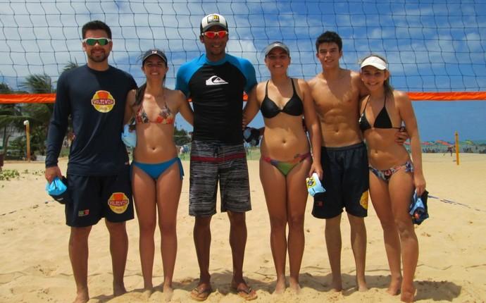 Circuito Paraibano de vôlei de praia, duplas mistas (Foto: Divulgação / FPV)