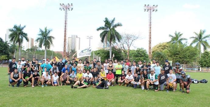 Participantes da seletiva do Campo Grande Predadores Gravediggers (Foto: Divulgação/CG Predadores Gravediggers)