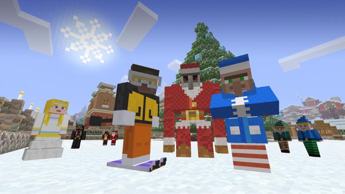 Minecraft para Xbox One e Xbox 360 ganhou novas skins, tema e música natalina (Foto: Divulgação)