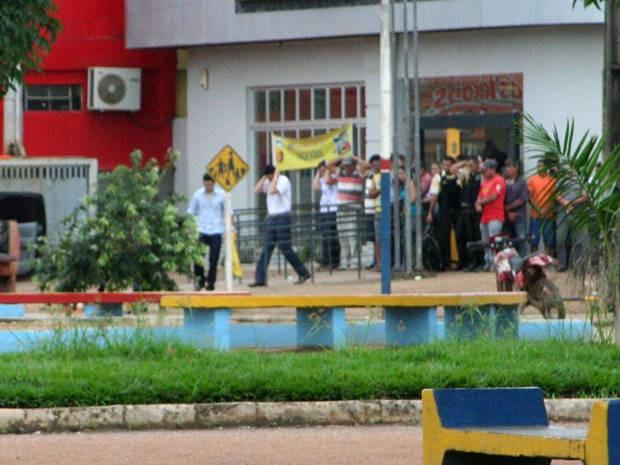 Assalto em Uruará - 1  (Foto: Valdeci Mecca/VC no G1)