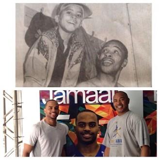 Jamaal Smith e o pai, Robert Smith (Foto: Arquivo Pessoal)
