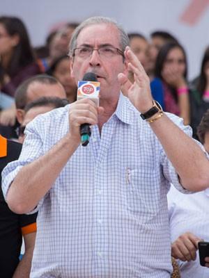 Presidente da Câmara, Eduardo Cunha (PMDB), em evento da Força Sindical  (Foto: Paulo Lopes/Futura Press/Estadão Conteúdo)