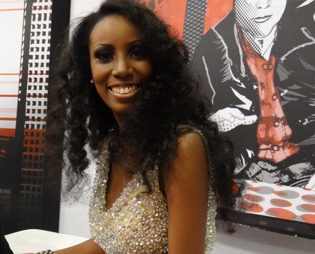 Quesia Luz na sala de Bate-Papo (Foto: The Voice Brasil/TV Globo)
