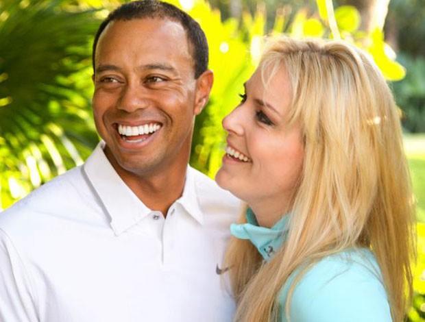 Tiger Woods e Lindsey Vonn (Foto: Divulgação/Facebook)