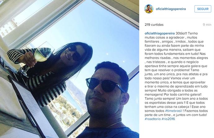 Thiago Pereira aniversário 30 anos (Foto: Reprodução / Instagram)