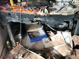 Fogo teria destruído aparelhos eletrônicos dentro do apartamento (Foto: Arquivo pessoal)