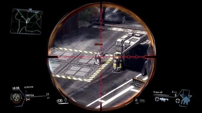 Titanfall: conheça esconderijos para usar sniper (Foto: Reprodução/Murilo Molina)
