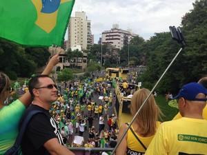 Manifestação em Porto Alegre (Foto: Caetanno Freitas/G1)
