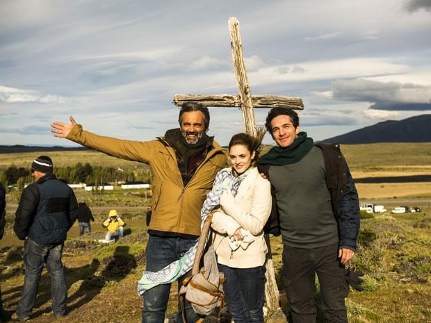 Domingos Montagner, Isabelle Drummond e Michel Noher (Foto: João Miguel Júnior / Globo)